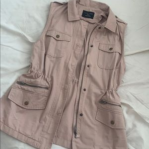 Blush Pink Canvas Vest